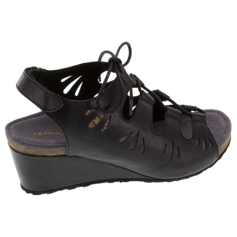 Aetrex Giselle Black Leather High Heel 41