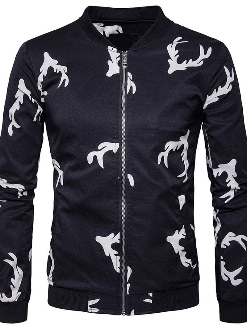 Ericdress Print Stand Collar Fall Zipper Jacket
