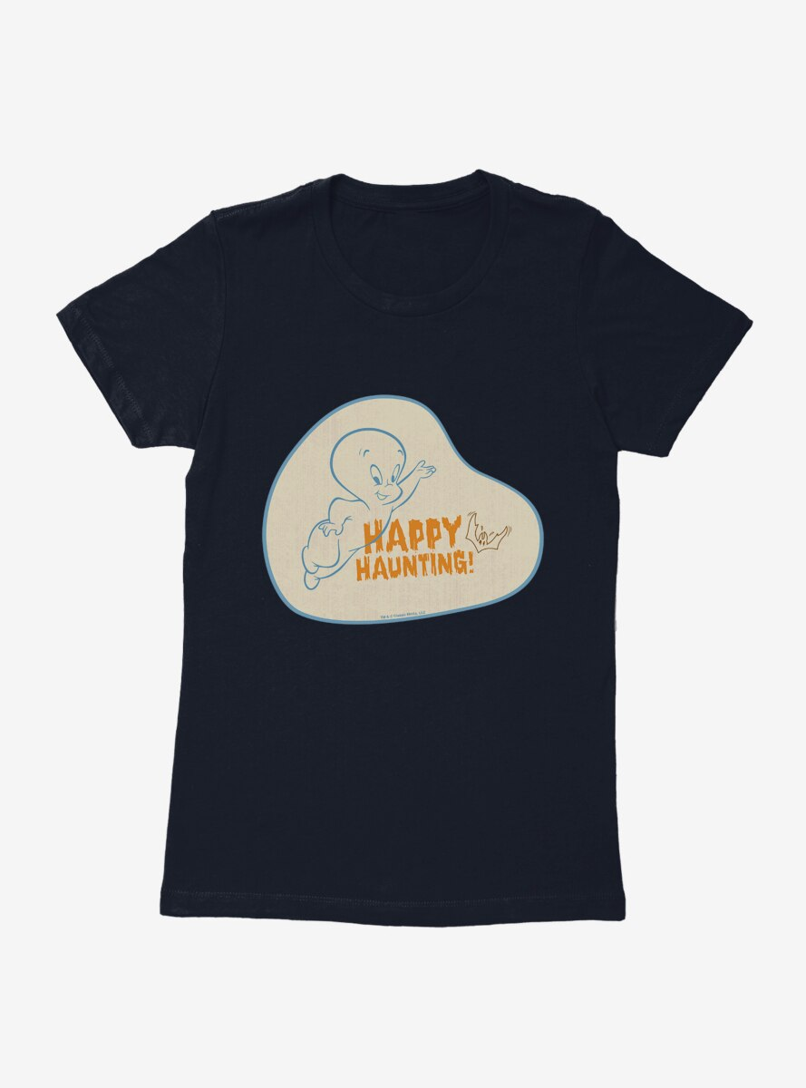 Casper The Friendly Ghost Happy Haunting Womens T-Shirt