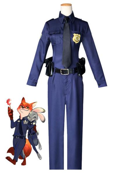 Milanoo Zootopia Nick Wilde Fox Police Halloween Cosplay Costume  Halloween