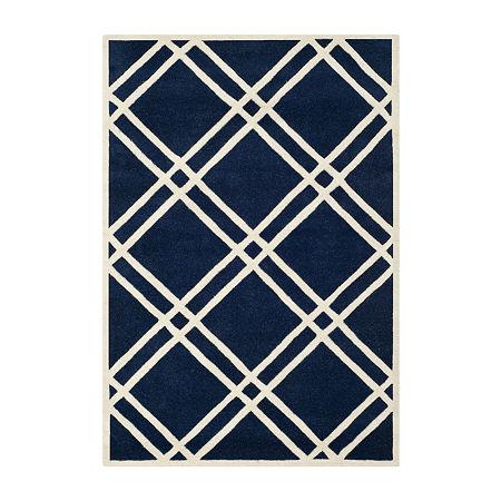 Safavieh Alannis Geometric Hand Tufted Wool Rug, One Size , Blue
