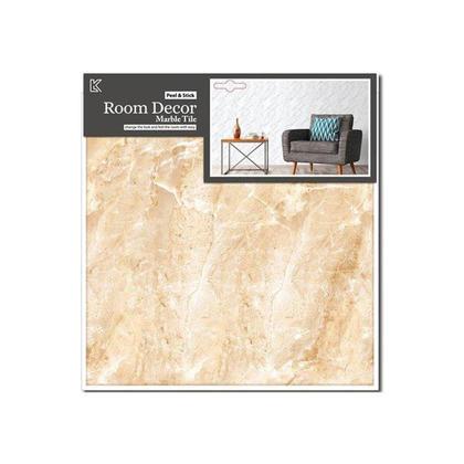 Décalques muraux en carrelage marbre, beige, 11.8