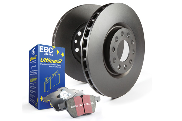 EBC Brakes S1KF1769 S1KF Kit Number Front Disc Brake Pad and Rotor Kit UD1110+RK7296XD Pontiac Grand Prix Front 2005-2008 5.3L V8