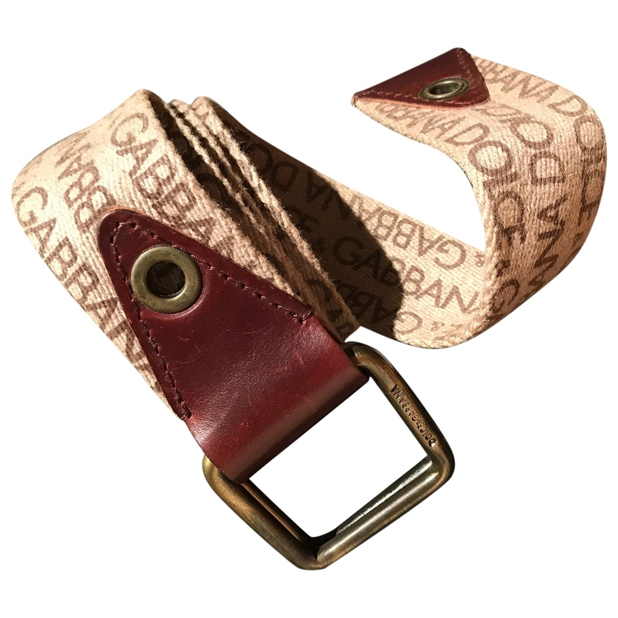 Dolce & Gabbana \N Brown Cloth belt for Men 90 cm