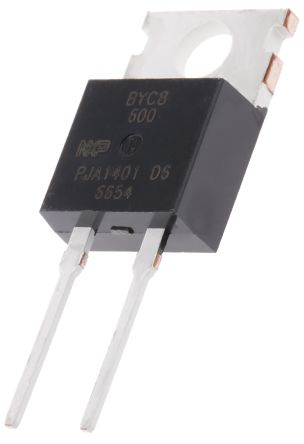 WeEn Semiconductors Co., Ltd 600V 8A, Silicon Junction Diode, 2-Pin TO-220AC BYC8-600,127 (5)