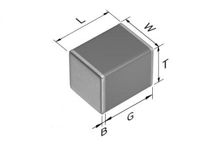 TDK 1210 (3225M) 15nF Multilayer Ceramic Capacitor MLCC 630V dc ±5% SMD CGA6L4C0G2J153J160AA (2000)