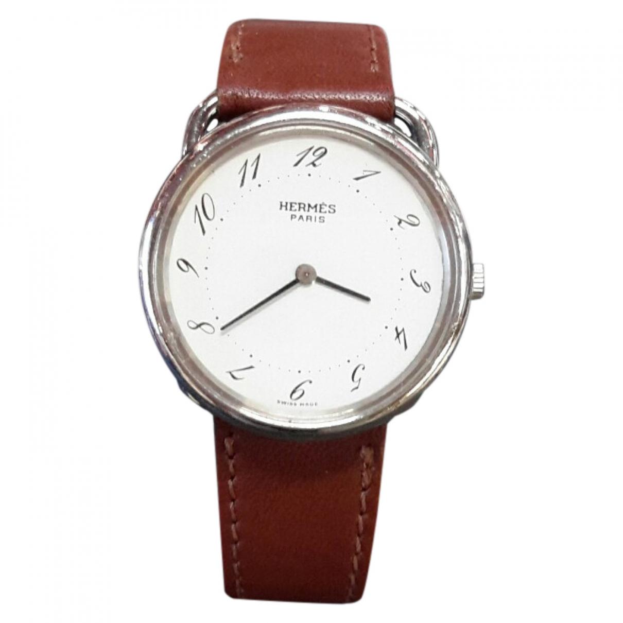 Hermès Arceau Brown Steel watch for Women \N
