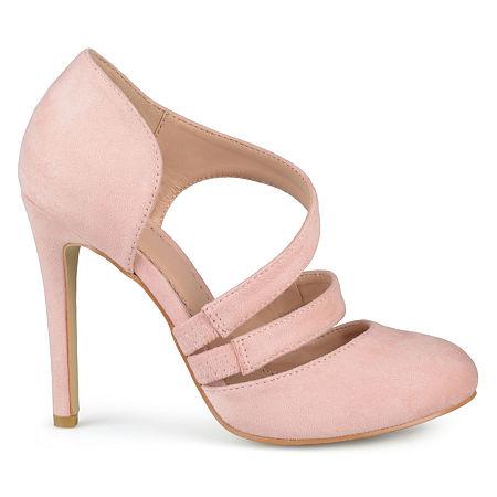 Journee Collection Womens Zeera Pumps Stiletto Heel, 8 Medium, Pink