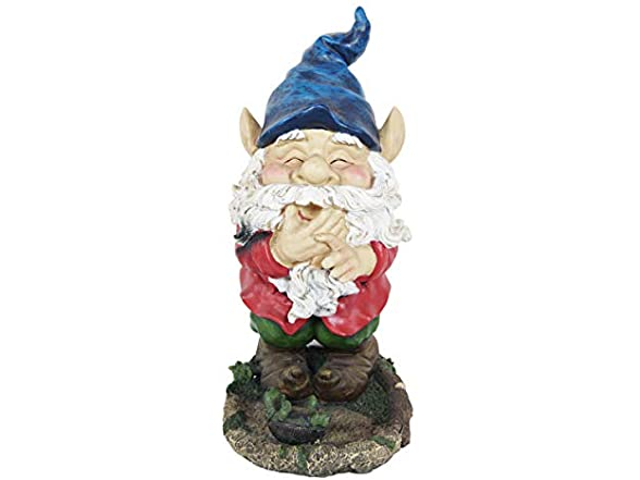 Gnome Smiling Outdoor Statue
