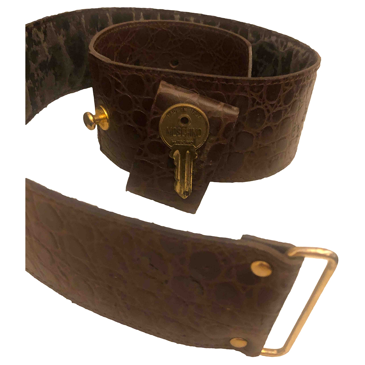 Moschino \N Brown Leather belt for Women 95 cm