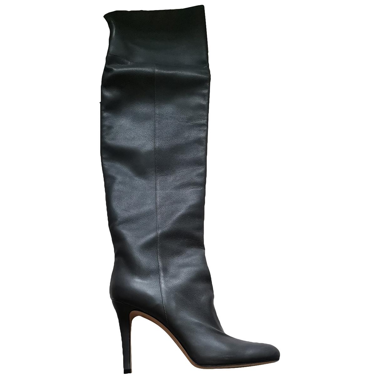 Jimmy Choo \N Grey Leather Boots for Women 39.5 EU