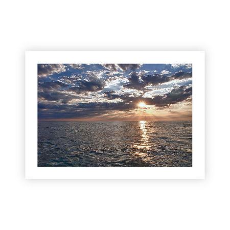 Brushstone Lake Erie Sunset I Canvas Wall Art, One Size , Blue