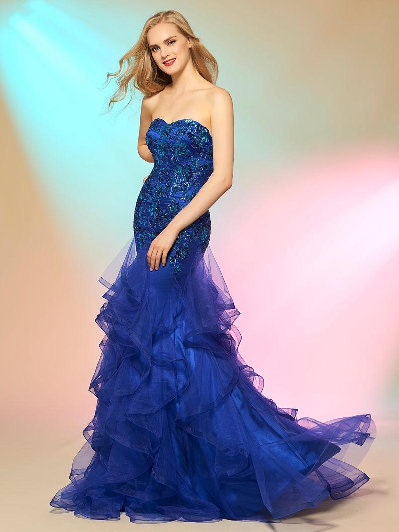 Ericdress Elegant Mermaid Sweetheart Sequin Applique Prom Dress