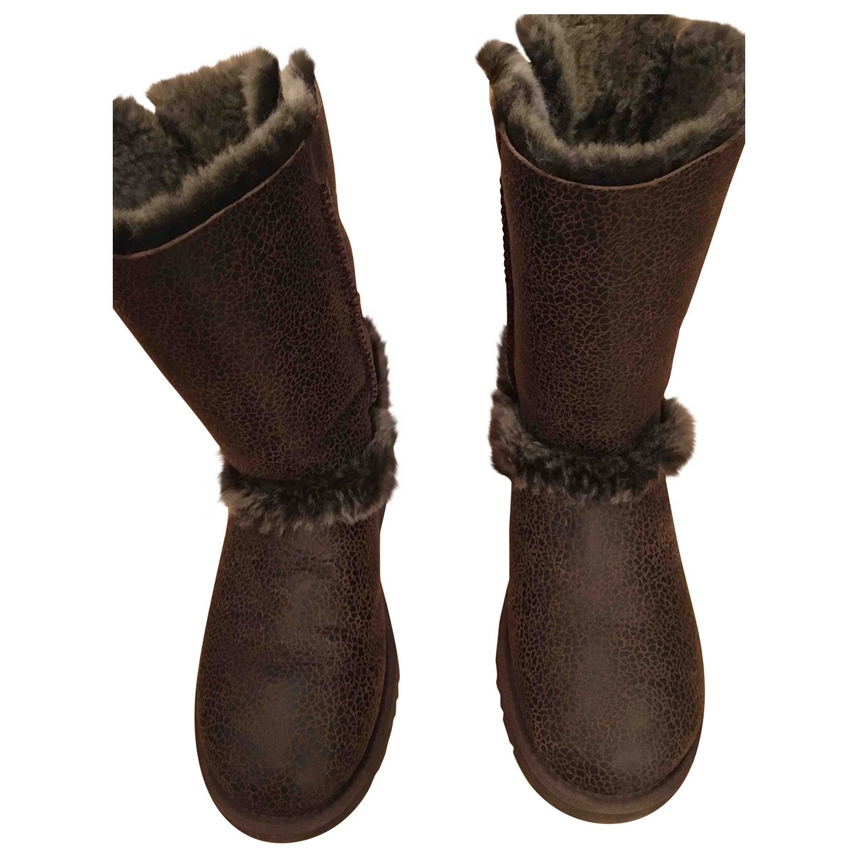 Ugg \N Brown Leather Boots for Women 9 US