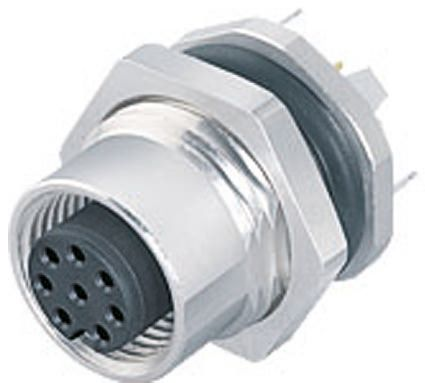 Binder Connector, 4 contacts Panel Mount M12 Socket, Solder IP67