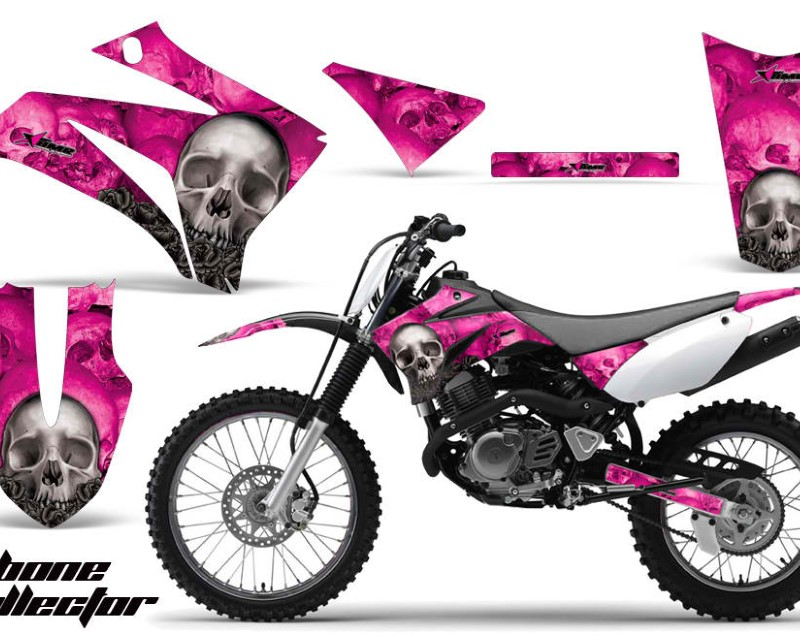 AMR Racing Dirt Bike Graphics Kit MX Decal Wrap For Yamaha TTR125LE 2008-2018áBONES PINK