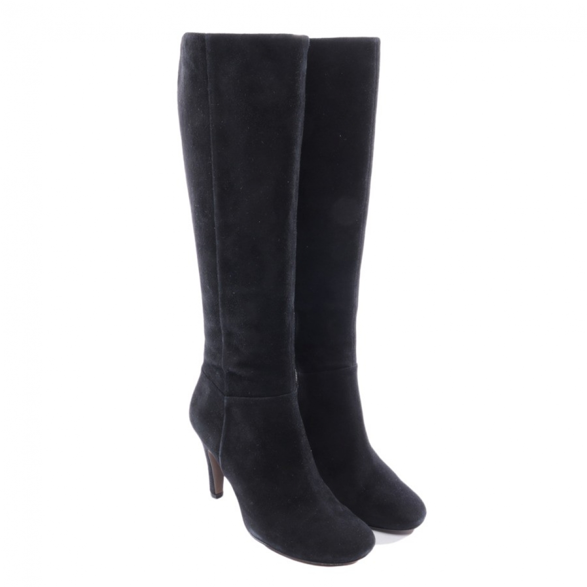 Ash \N Black Leather Boots for Women 36 EU