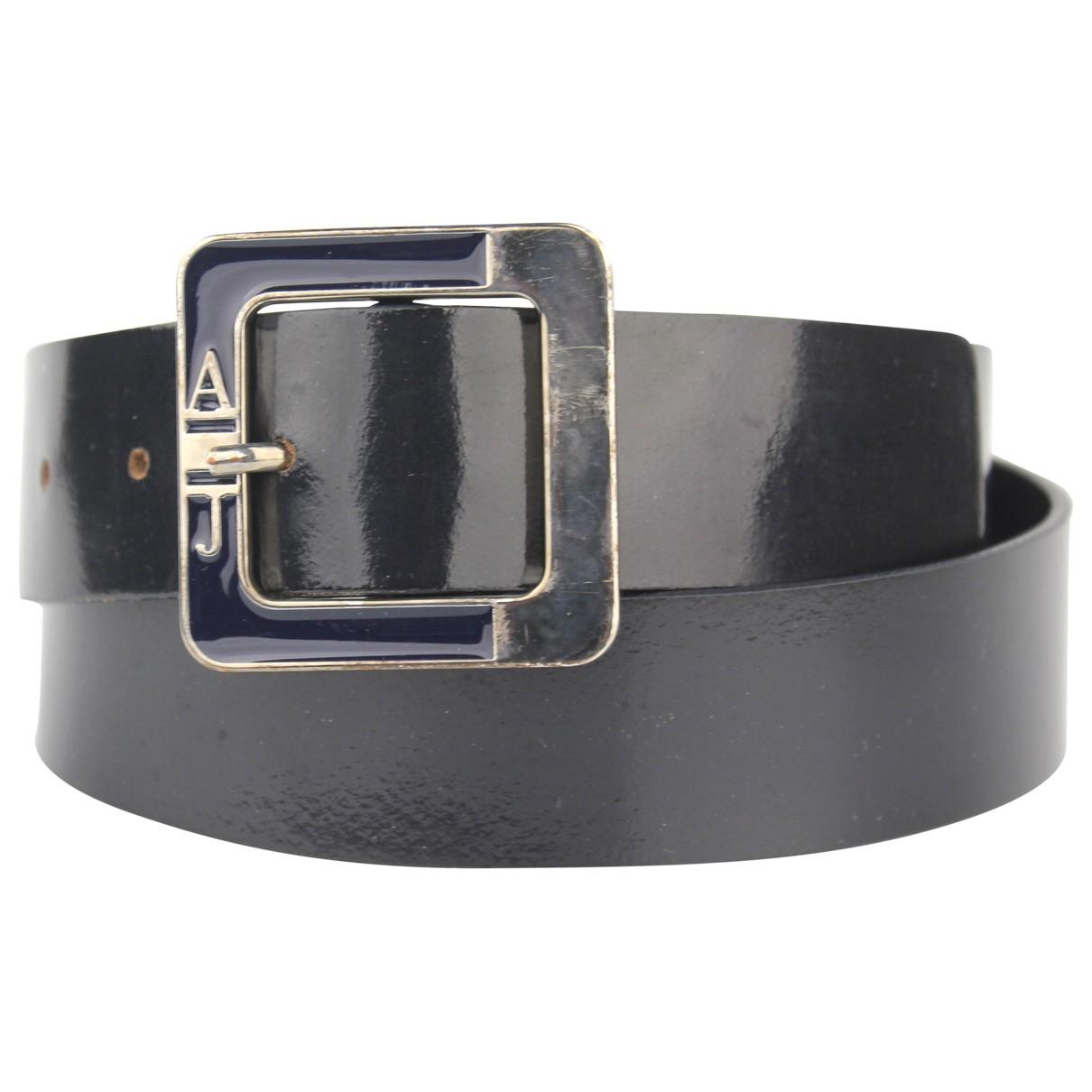 Armani Jeans \N Blue Leather belt for Women S International