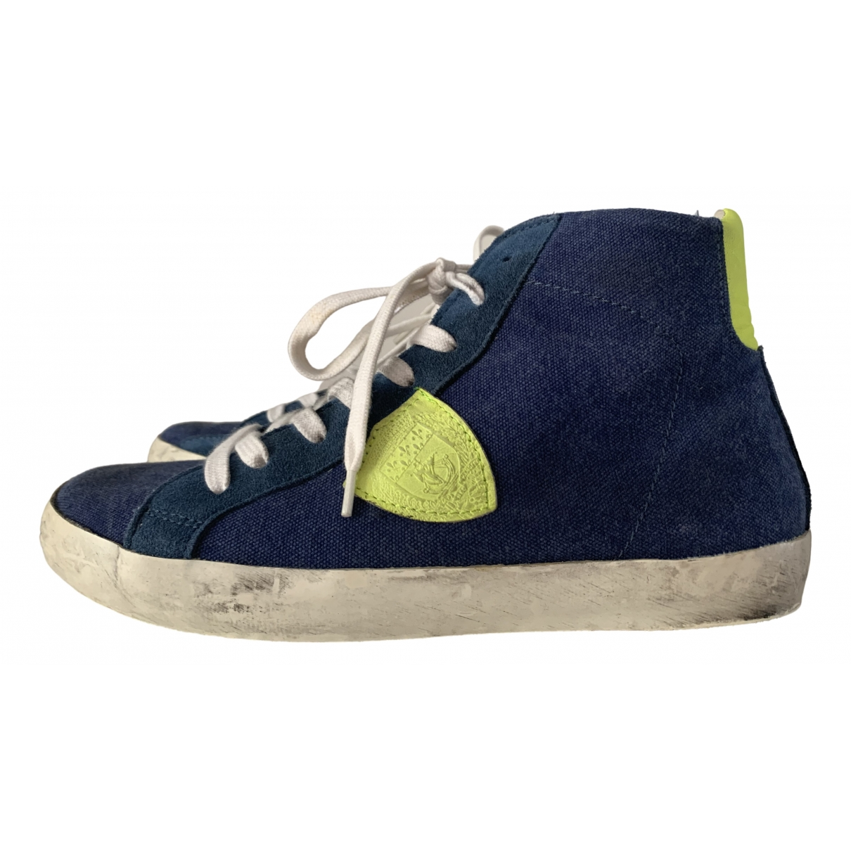 Philippe Model \N Blue Cloth Trainers for Women 37.5 IT