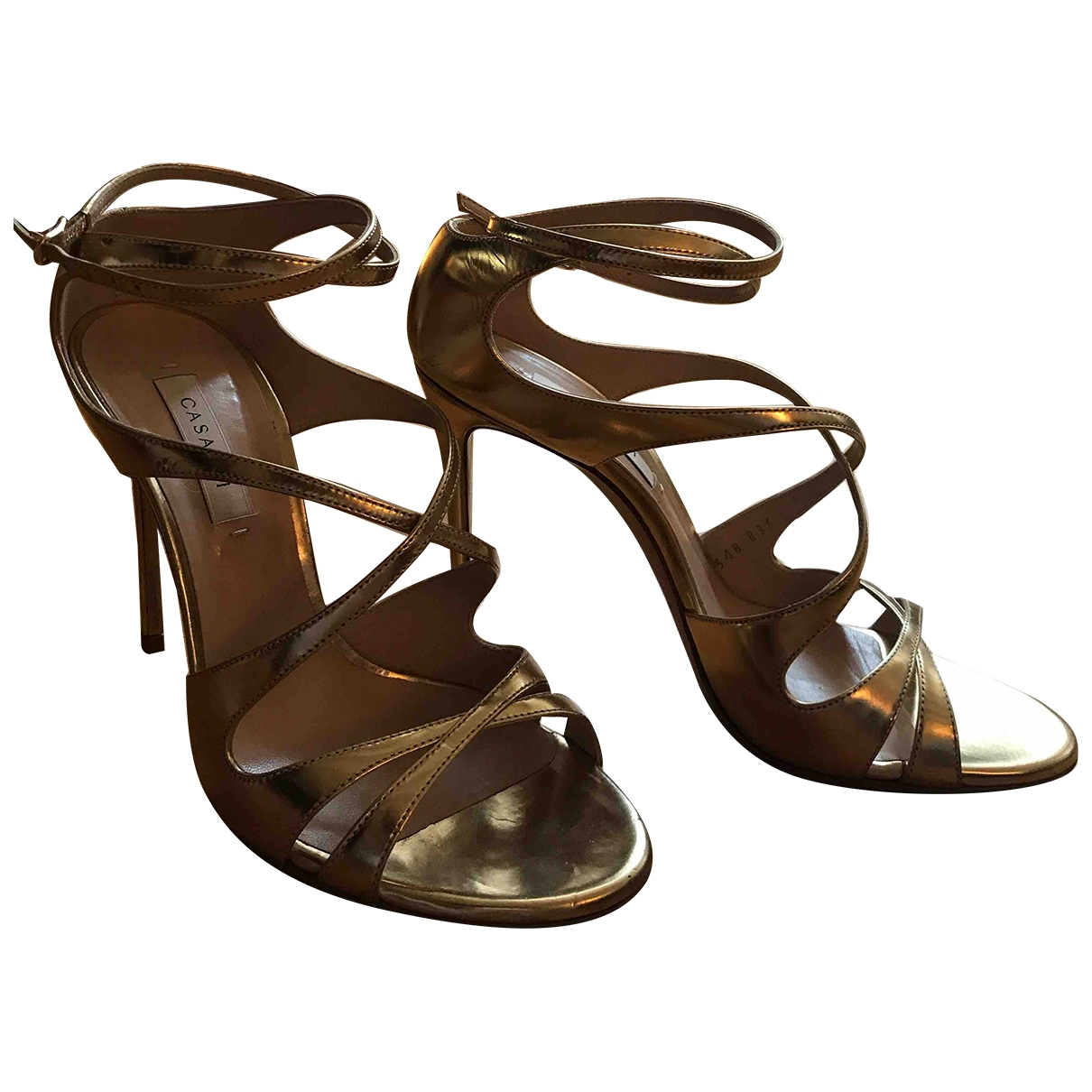 Casadei \N Metallic Leather Sandals for Women 6 US