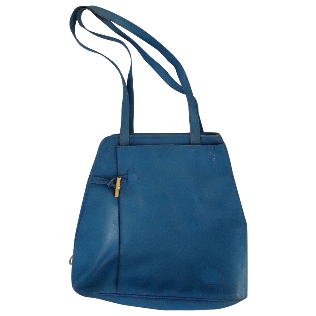 Longchamp \N Blue Leather handbag for Women \N