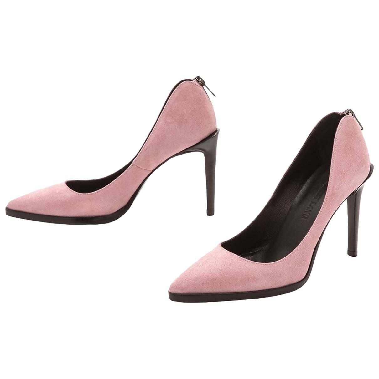 Helmut Lang \N Pink Suede Heels for Women 41 EU