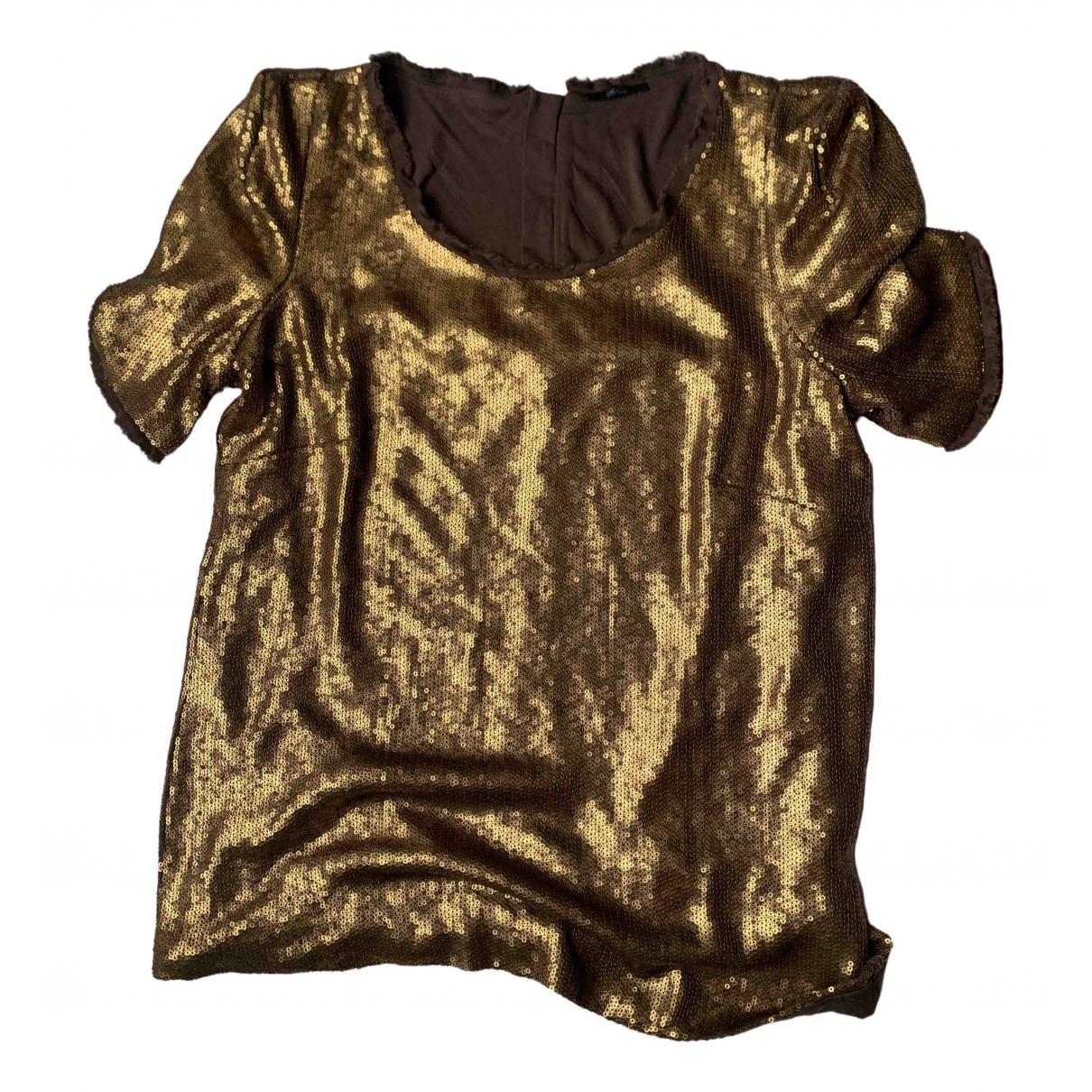 Ikks \N Gold Glitter  top for Women 42 FR