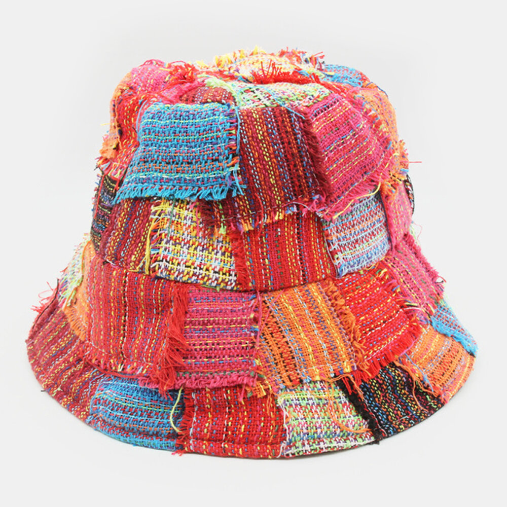 Creative Personality Collage Sun Hat Unisex Big Eaves Fisherman Hat Trend Sun Hat