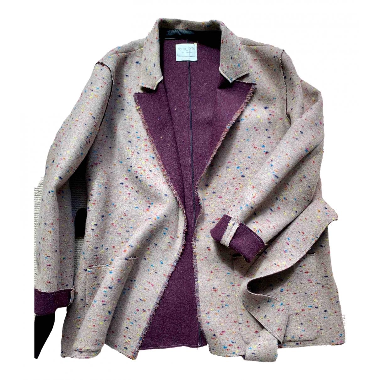 Forte_forte \N Beige Wool jacket for Women 2 0-5