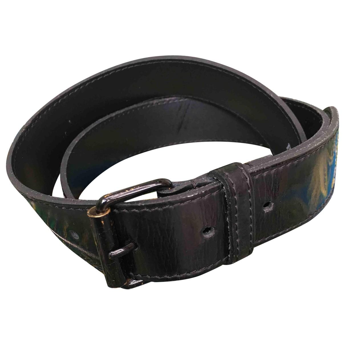Burberry \N Black Leather belt for Women 75 cm