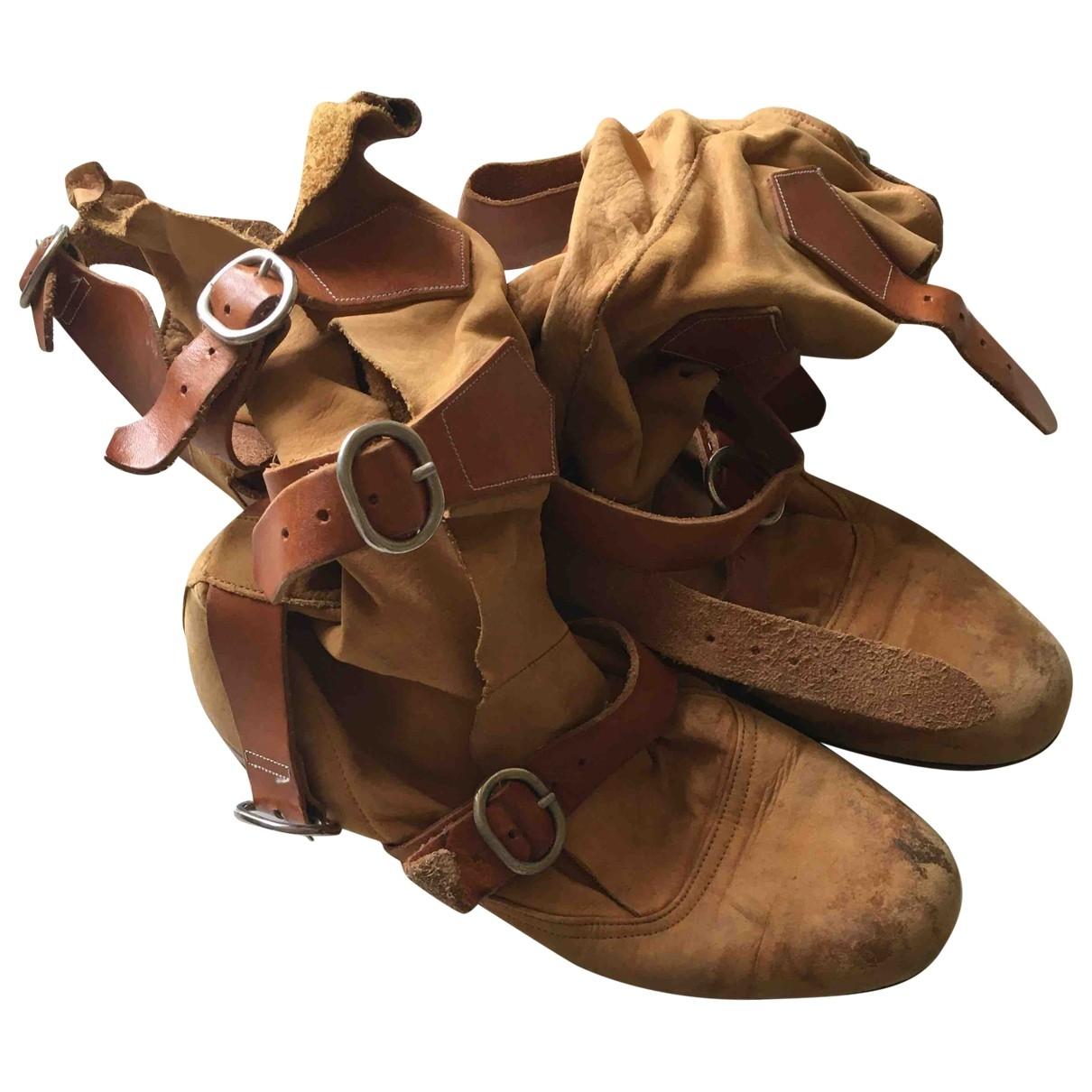 Vivienne Westwood \N Beige Suede Boots for Women 36 EU