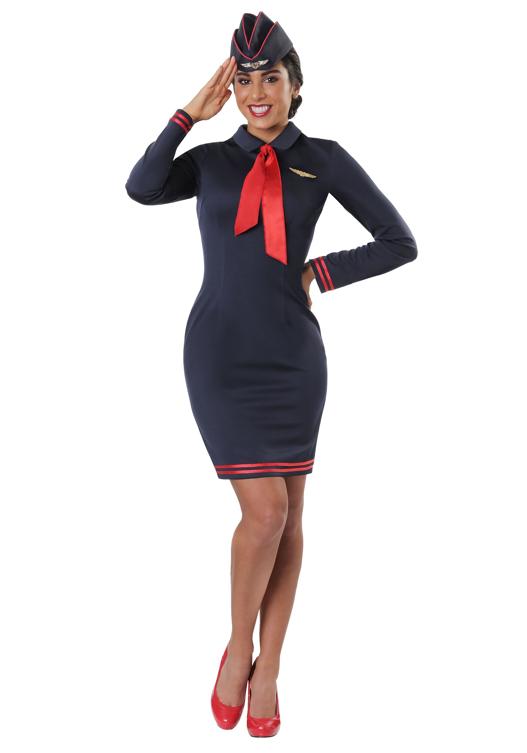 Workin' the Skies Flight Attendant for Women Costume
