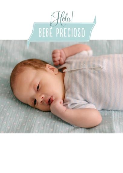 Newborn 5x7 Folded Cards, Standard Cardstock 85lb, Card & Stationery -Bebé precioso