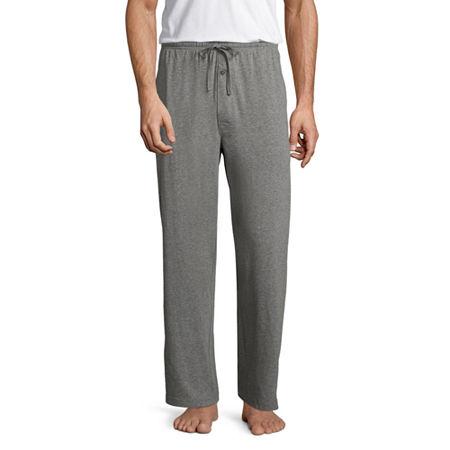 Stafford Mens Knit Pajama Pants, Small , Gray