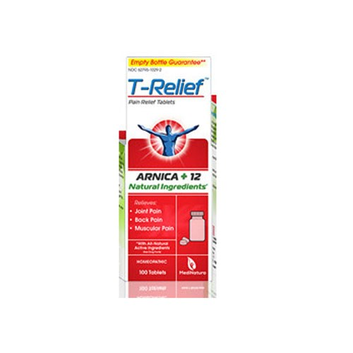 T-Relief Pain Relief Tablets 100 Tab by MediNatura