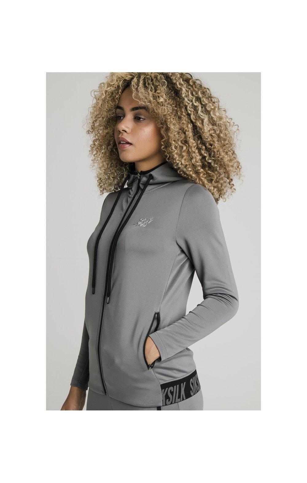 SikSilk Gym Track Jacket - Grey WOMEN SIZES: 8-XS