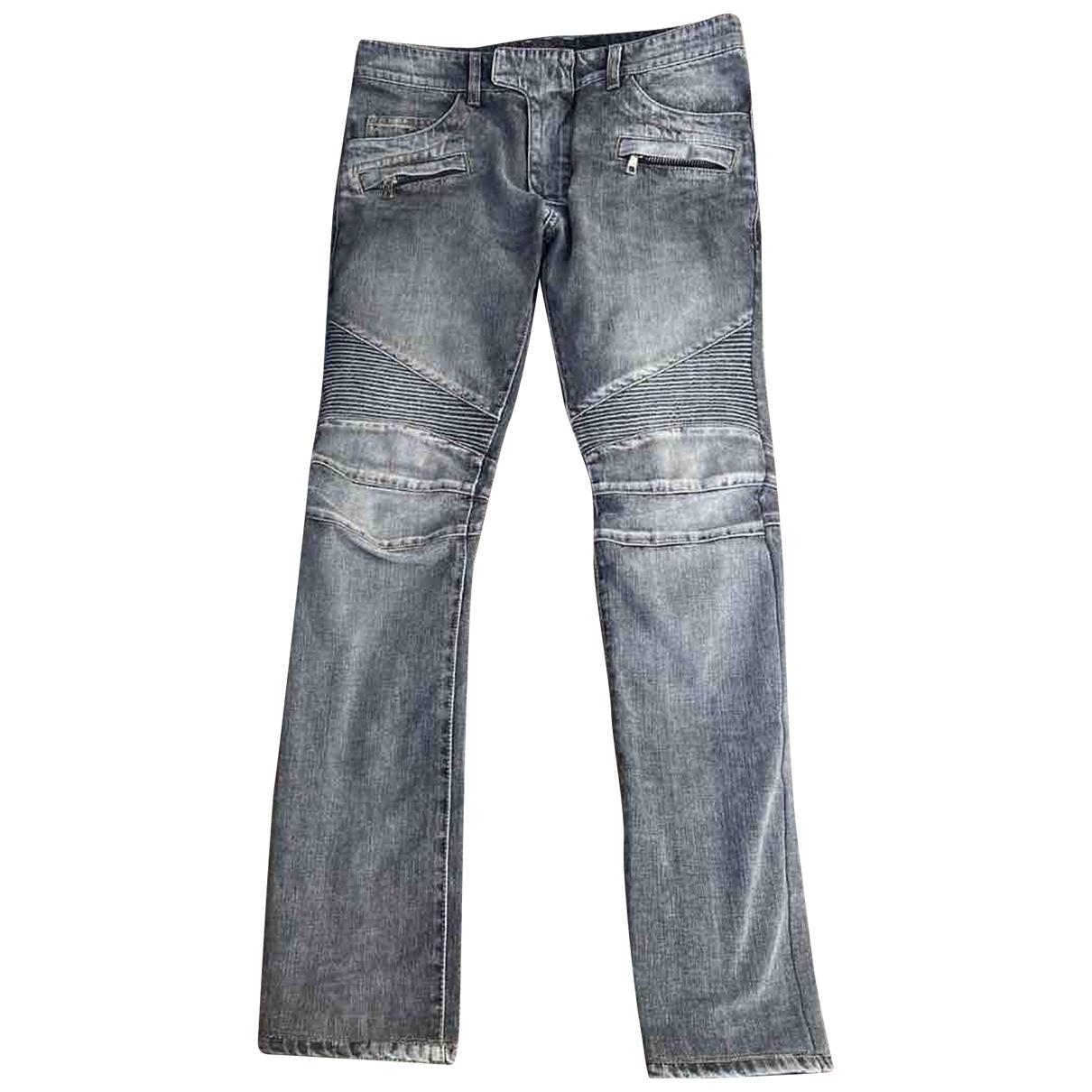 Balmain \N Grey Cotton Jeans for Men 40 FR