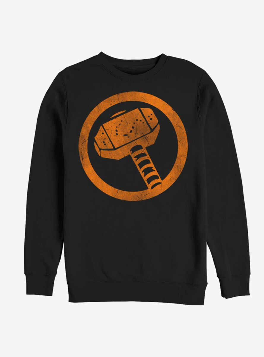 Marvel Thor Orange Retro Symbol Sweatshirt