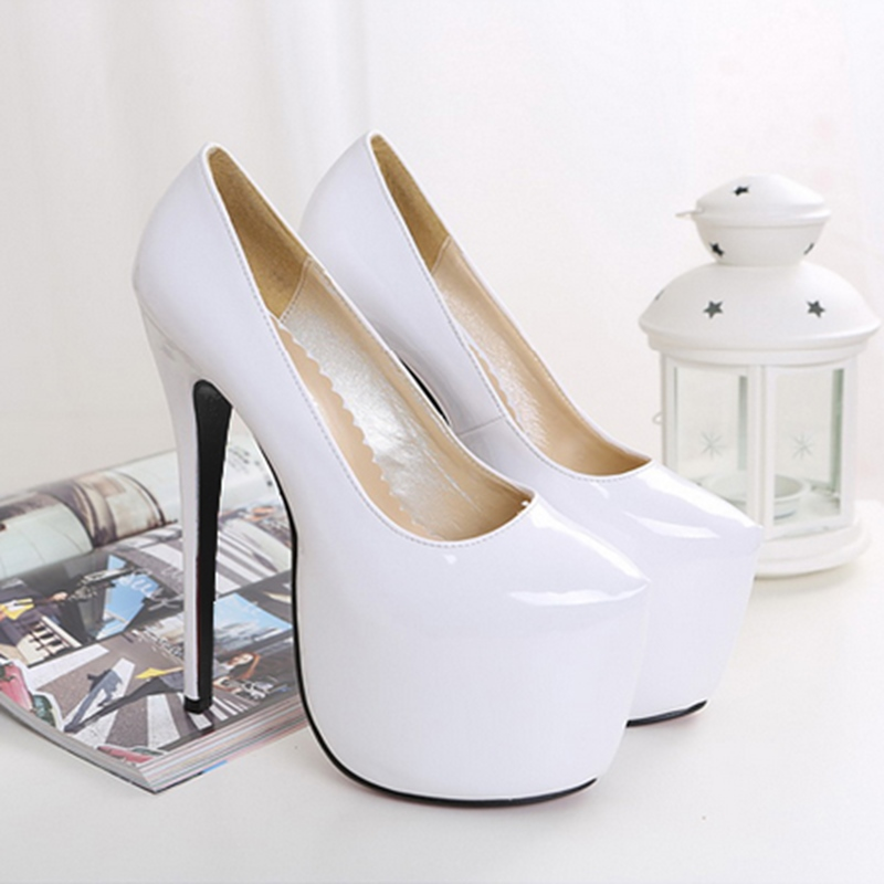 Ericdress Plain Platform Stiletto Heel Slip-On Pumps