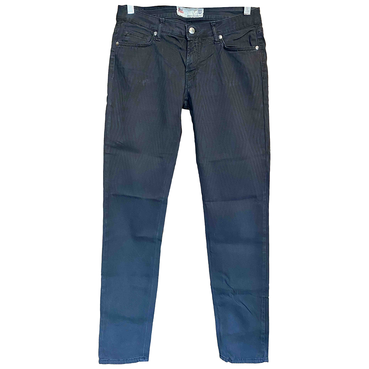 Roy Roger's \N Blue Cotton Trousers for Women 44 IT