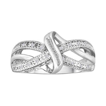 1/10 CT. T.W. Diamond Vintage Twist Ring, 7 , No Color Family