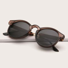 Men Round Frame Sunglasses
