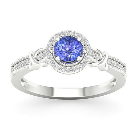 Womens 1/10 CT. T.W. Genuine Blue Tanzanite 10K Gold Cocktail Ring, 8 , No Color Family