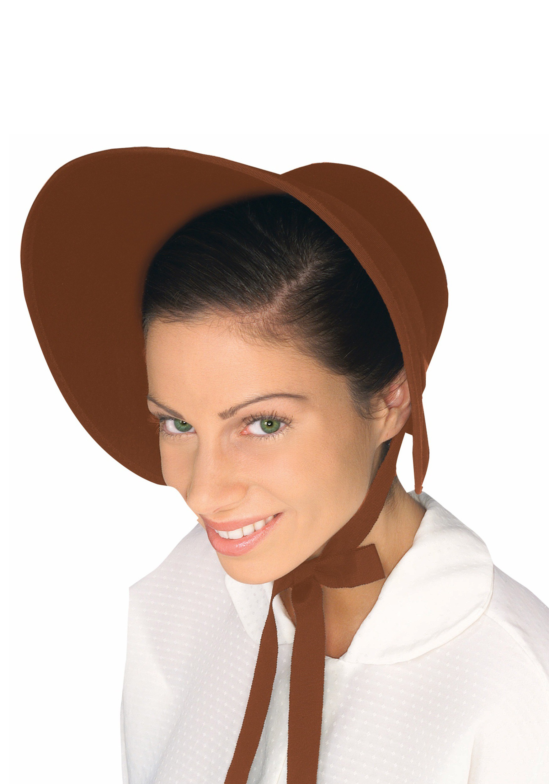Brown Felt Women's Bonnet