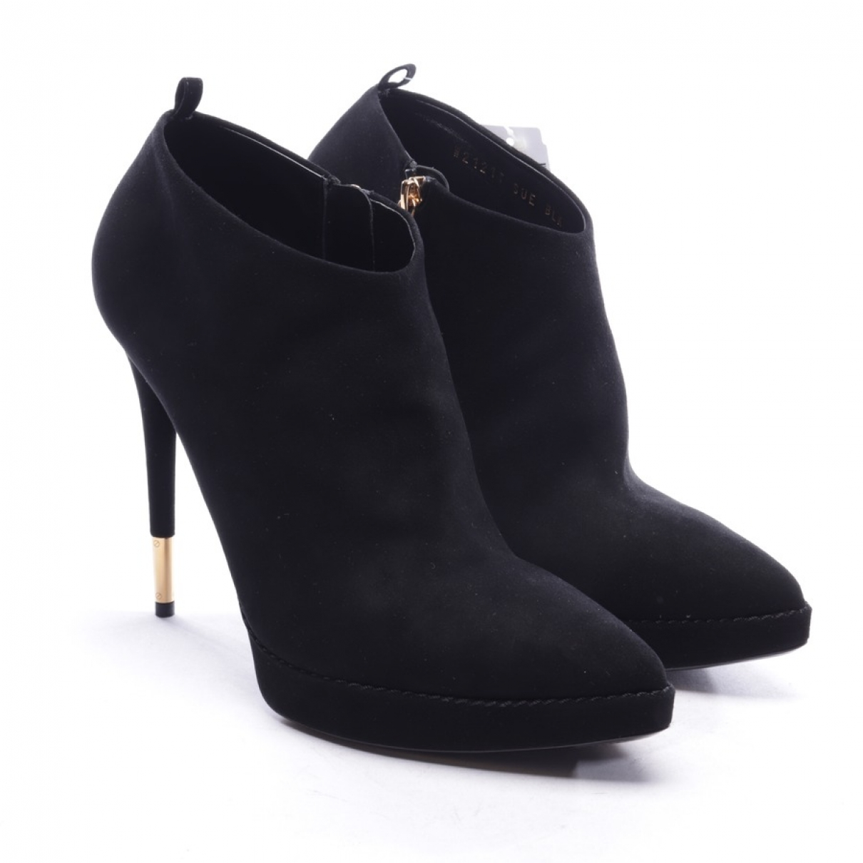 Tom Ford \N Black Suede Ankle boots for Women 39.5 EU