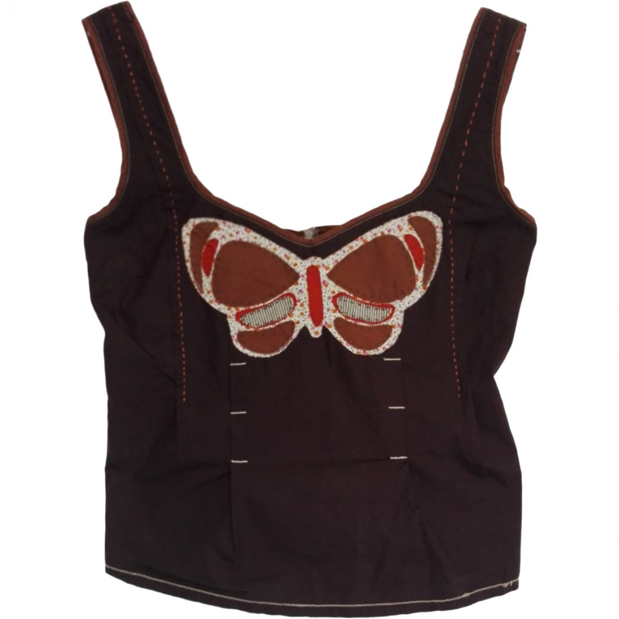 Max & Co \N Brown Cotton  top for Women 42 IT