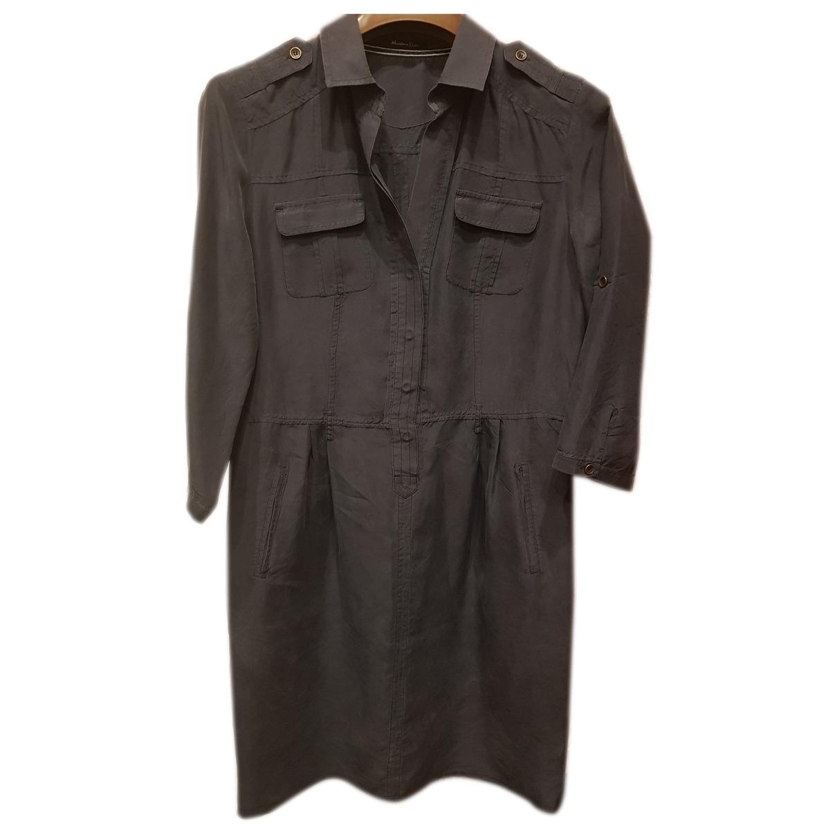 Massimo Dutti \N Anthracite Silk dress for Women 38 FR