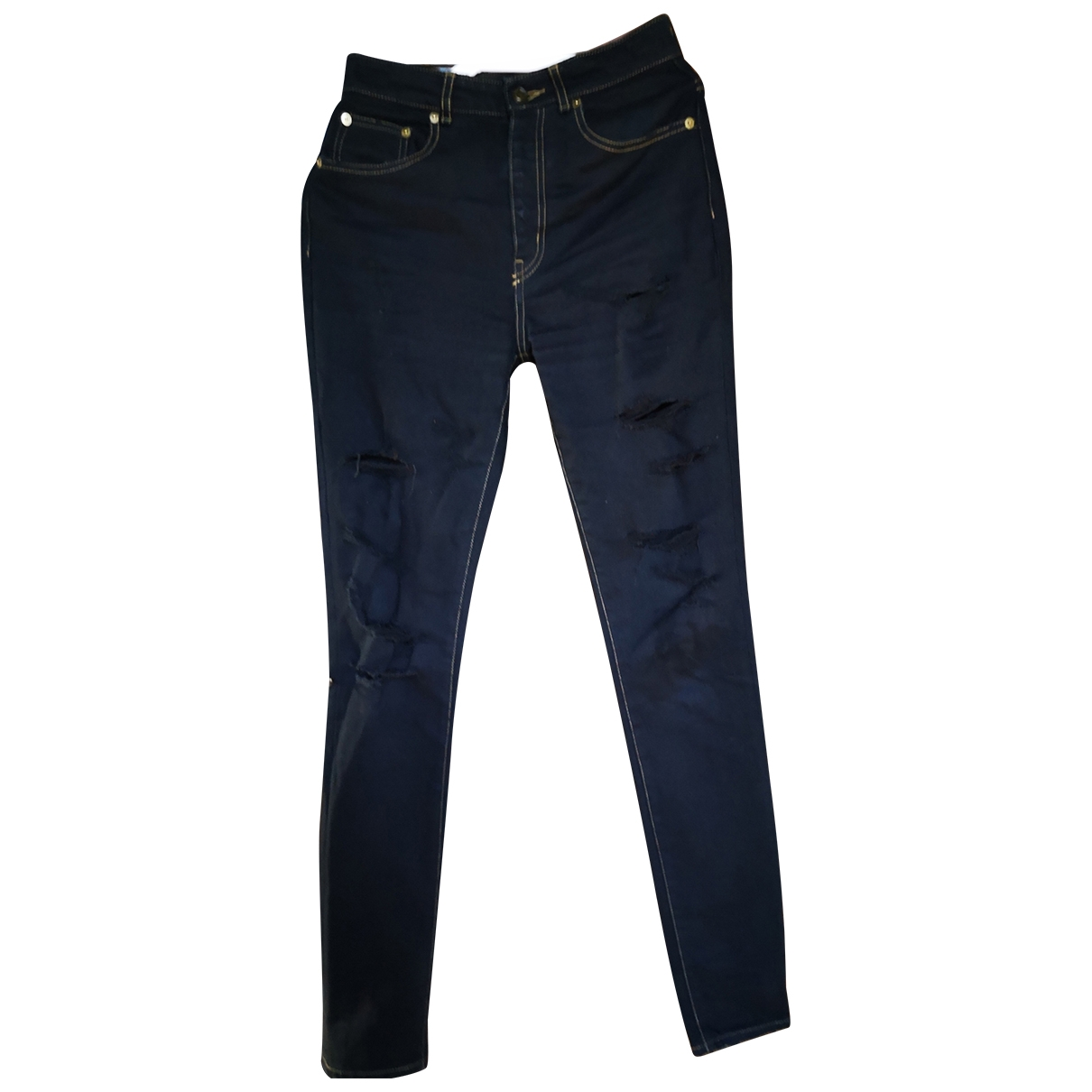 Saint Laurent \N Black Cotton - elasthane Jeans for Women 26 US