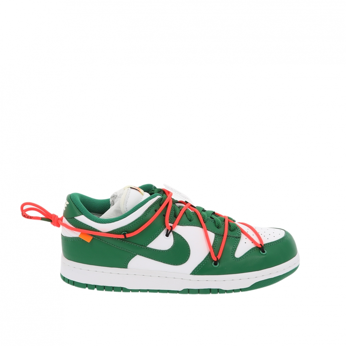 Nike X Off-white Dunk Low Green Leather Trainers for Men 9.5 US