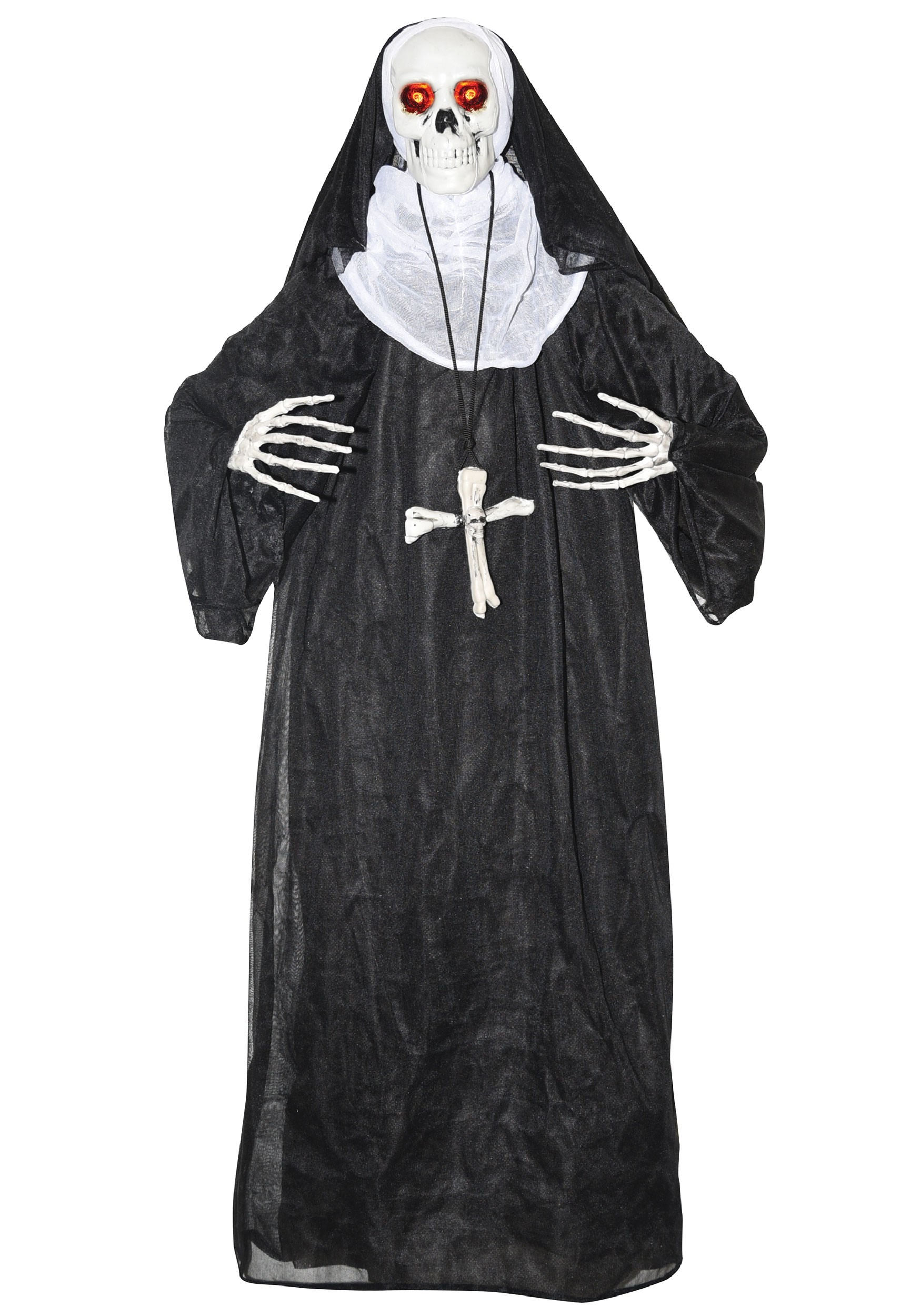 Animated Nun Prop Halloween Decoration